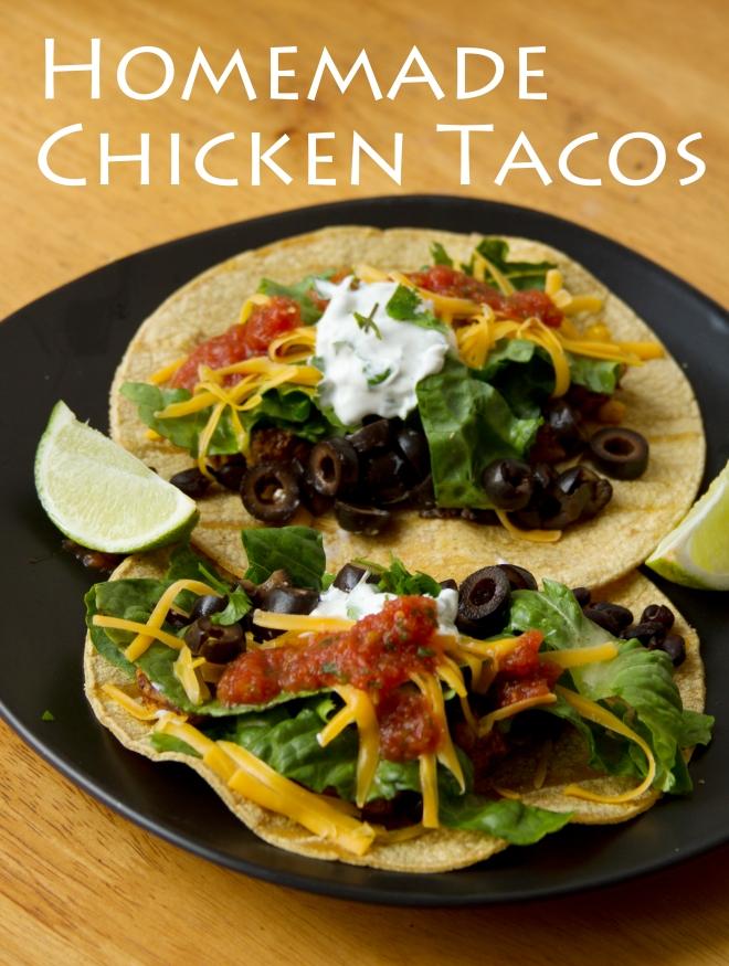 Chicken Tacos on Corn Tortillas